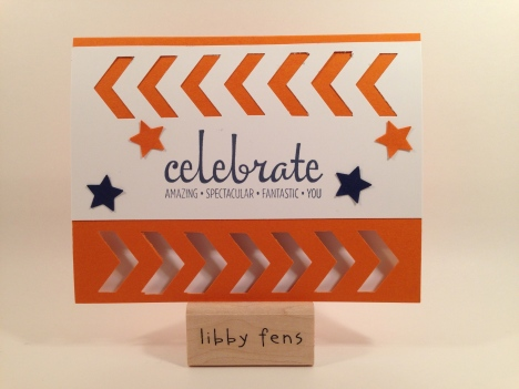 libbystamps, Fabulous Four, Chevron Punch, Word Window Punch, Itty Bitty Accents Punch Pack