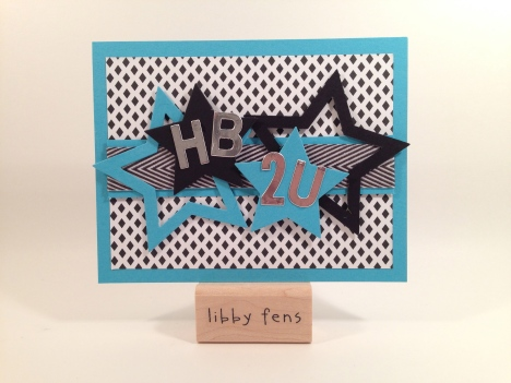 libbystamps, File Tab Edgelits, Little Letters Thinlits, Silver Foil Sheets, Star Framelits, Basic Black Chevron Ribbon, Back to Black DSP
