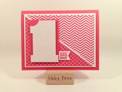 libbystamps, 2013-2015 In-Color DSP Paper Stack, Banner Punch, Dazzling Diamonds Glimmer Paper, Honeycomb Hello Stamp Set