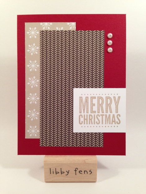 libbystamps, Christmas, Trim the Tree DSP Stack, Merry Everything Stamp Set, Pearl Basic Jewels,