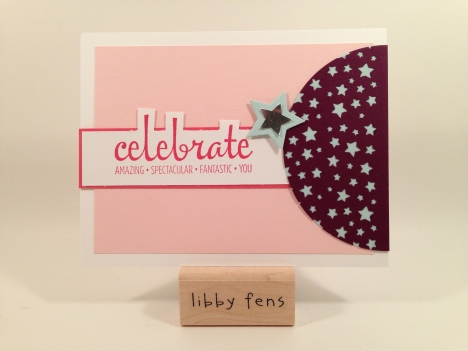 libbystamps, Fabulous Four, Confetti Stars Punch, Star Framelits, Circles Framelits