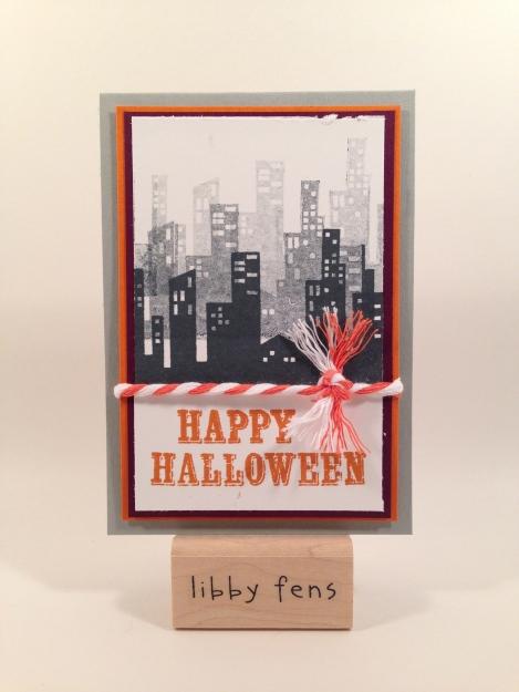libbystamps, Boo-tiful Bag Paper Pumpkin, Halloween card, Calling All Heros