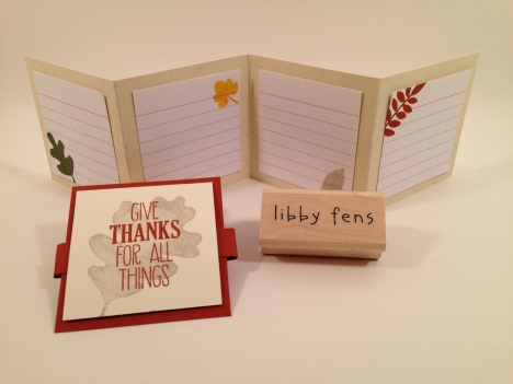 libbystamps, For All Things Stamp Set, For All Things, Fall Fest, Gratitude Journal, Mini Book