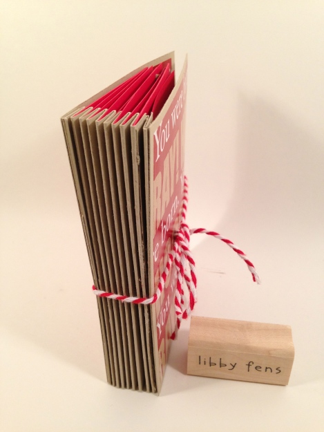 libbystamps, birthday, accordion card, tag card, flip flag card