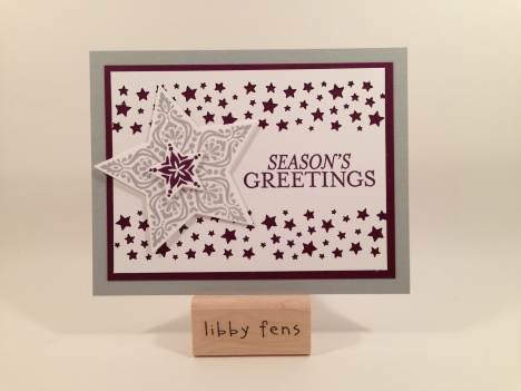 libbystamps, Bright & Beautiful Stamp Set, Stars Framelits, Confetti Stars Punch, Christmas