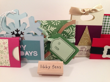 libbystamps, Christmas, gift card