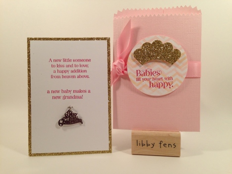 libbystamps, Cuddles & Kisses, Work of Art, Mini Treat Bag Thinlits, Gold Glimmer Paper, James Avery