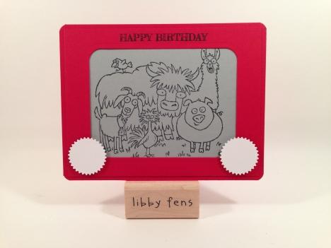 libbystamps, From the Herd, Starburst Framelits, Project Life Card & Label Framelits, Envelope Punch Board