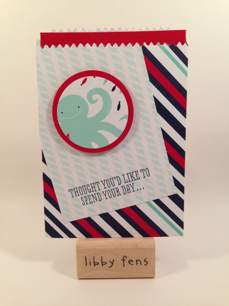 libbystamps, B.Y.O.P., Maritime DSP, Mini Treat Bag Thinlit