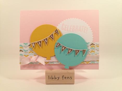 libbystamps, Celebrate Today, Balloon Framelits, Best Day Ever DSP, Sale-a-Bration, Starburst Framelits