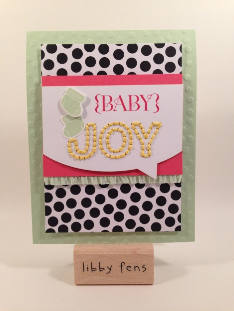 libbystamps, Stampin' Up, Sew You Paper Pumpkin, Something For Baby,  Baby's First Framelits