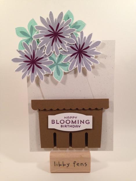 libbystamps, Stampin' Up, Berry Basket, Flower Fair Framelits, Flower Patch, basket card