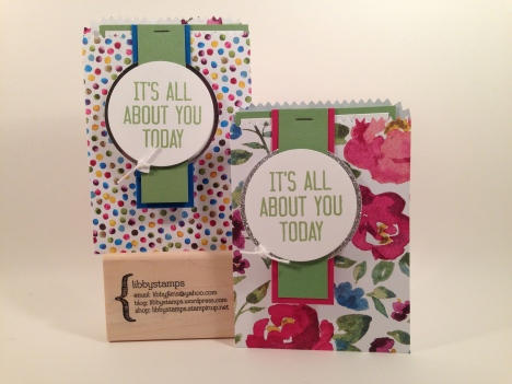 libbystamps, Stampin' Up, stampin up, Hooray It's Your day Stamp Set, Mini Treat Bag Thinlit, Painted Blooms DSP, Balloon Framelits,
