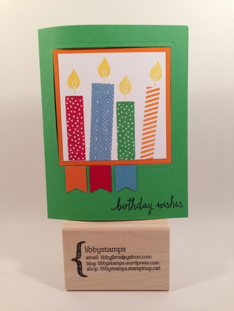 libbystamps, Stampin' Up, stampinup, Build a Birthday Stamp Set, Squares Collection Framelits, Banner Punch, Pop Out Swing Card, Fab Fri 68