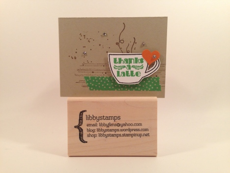 libbystamps, Stampin' Up, stampinup, gift card, Thanks a Latte, Gorgeous Grunge Stamp Set, Cherry on Top Designer Washi Tape, Itty Bitty Accents Punch Pack, Paper Pumpkin