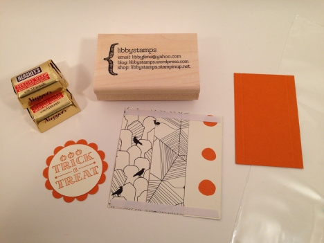 libbystamps, Stampin Up, A Little Something Stamp Set, Happy Haunting, Halloween treat, nugget tray, party favor