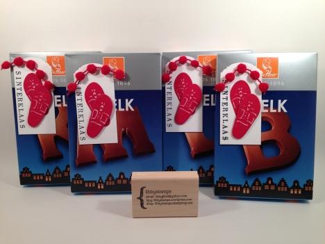 libbystamps, Sinterklaas, chocolate letters