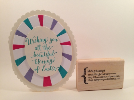 libbystamps, Stampin Up, Suite Sayings, Ovals Collection Framelits, Sunburst Thinlits, Easter
