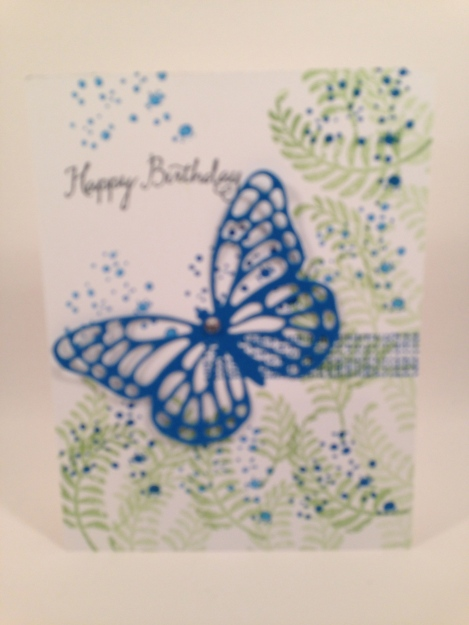 libbystamps, Stampin' Up, A Nice Cuppa, Have a Cuppa DSP, Cups & Kettle Framelits, Butterfly Thinlits, Wildflower Fields DSP, Hello, Botanical Builder Framelits