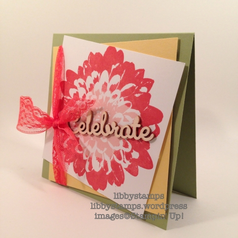 "libbystamps, stampin' up, Definitely Dahlia, Expressions Natural Elements, Watermelon Wonder 1"" Dotted Lace Trim, WWC63"