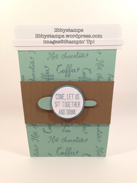 libbystamps, Stampin Up, CCMC402, Balloon Celebration, Cups & Kettle Framelits, gift card holder