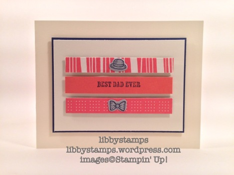 libbystamps, stampin' up, Bear Hugs Framelits, Bear Hugs, CCMC404, Father's Day, Pretty Petals DSP Stack,