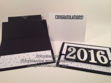 libbystamps, stampin up, WWC65, Large Numbers Framelits, graduation, gift card holder, Card Buffet