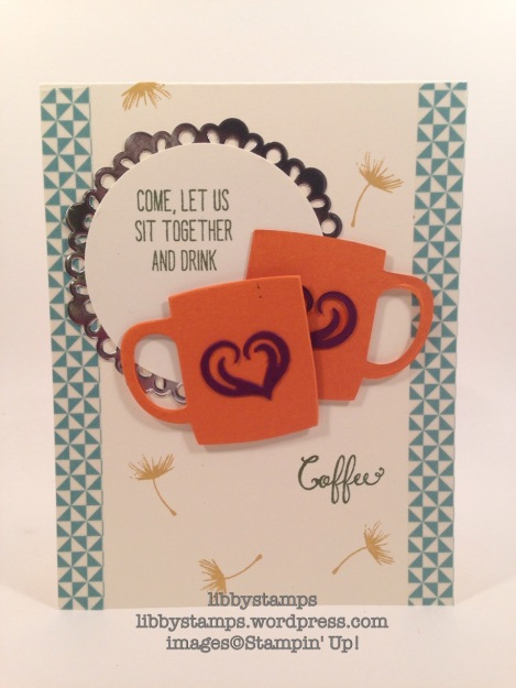 libbystamps, stampin up, Balloon Celebration, Cups & Kettle Framelits, WWC68