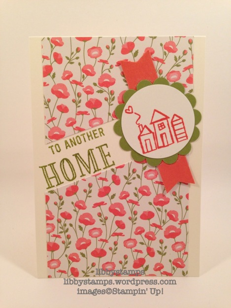 libbystamps, stampin up, Southgate Pearland, Welcome Words, Pretty Petals DSP Stack
