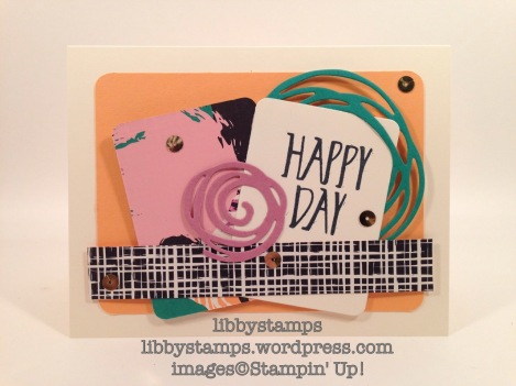 libbystamps, stampin up, We Create, Perfectly Wrapped, Playful Palette DSP, Swirly Scribbles Thinlits,