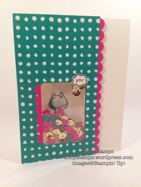 libbystamps, stampin up, Love You Lots, shaker card, TSOT275, Playful Palette DSP, Scallop Edge Border Punch, Hearts Border Punch,