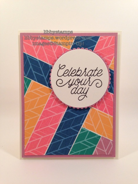 libbystamps, stampin up, Designer Tin of Cards, 2016-2018 In-Colors, 2016-2018 In-Color Envelope Paper, Layering Circles Framelits, WWC72