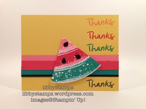 libbystamps, stampin up, Thankful Thoughts, Work of Art, WWC73,  watermelon