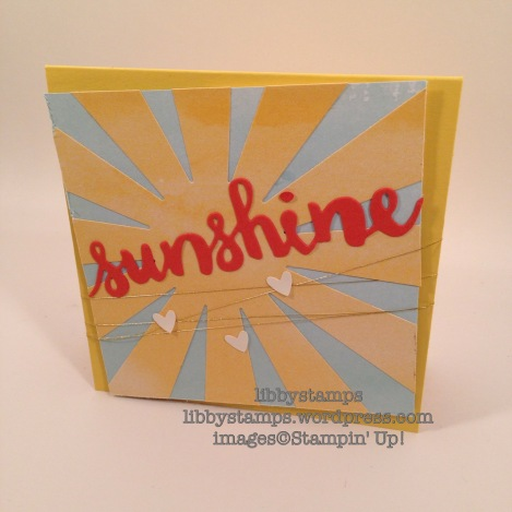 libbystamps, stampin up, Sunburst Thinlits, Sunshine Wishes Thinlits, Perfectly Artistic DSP, Owl Builder Punch, Sale-a-Bration 2016