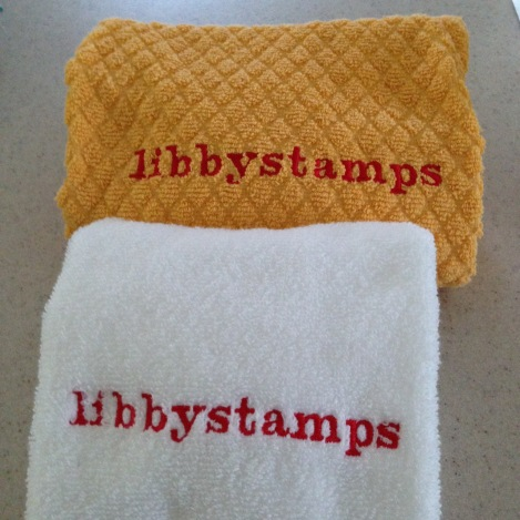 libbystamps, stampin up, Open House, custom towels,