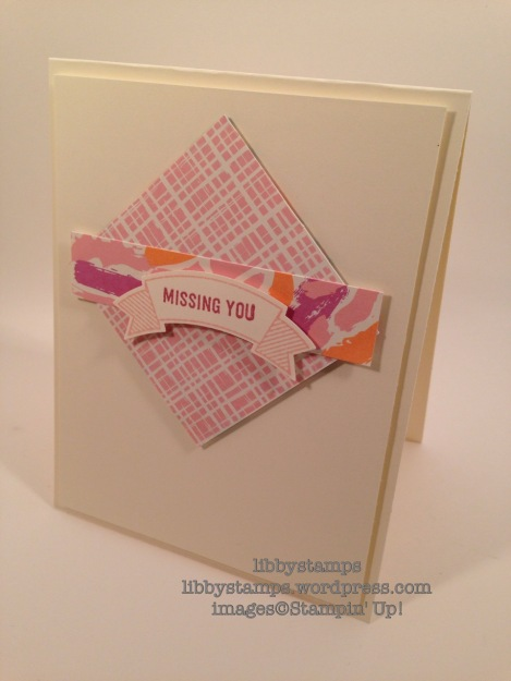 libbystamps, stampin up, Thoughtful Banners, Playful Palette DSP, Duet Banner Punch, CCMC413