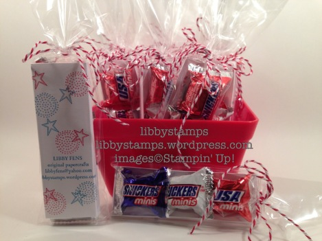 libbystamps, stampin up, Better Together, Balloon Celebration, July 4th Treats