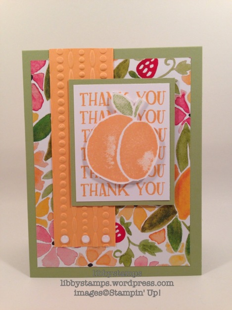 libbystamps, stampin up, Fresh Fruit, Festive EF, Fruit Stand DSP, WWC75