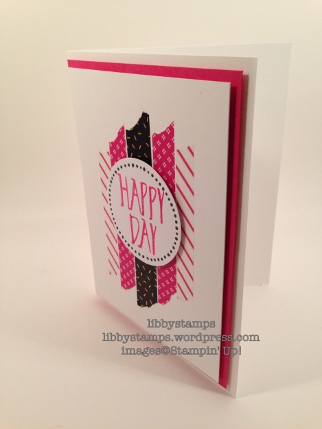 libbystamps, stampin up, Perfectly Wrapped, Pop of Pink Washi Tape