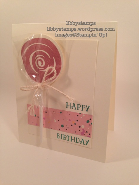 libbystamps, stampin up, swirly bird, playful palette, Number of Years, Lollipop