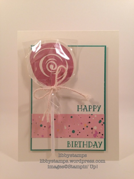 ibbystamps, stampin up, Swirly Bird, Number of Years, Playful Palette DSP, lollipop
