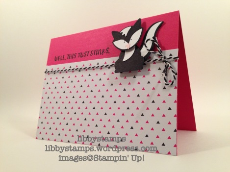 libbystamps, stampin up, Here For You, Fox Builder Punch, Pop of Pink DSP, CYCI#128