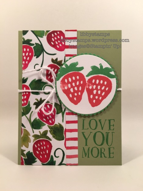 libbystamps, stampin up, Fresh Fruit, Fruit Stand DSP, Layering Circles Framelits