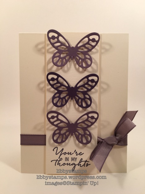 libbystamps, stampin up, Watercolor Wishes Card Kit, Bold Butterflies Framelits, TSOT282