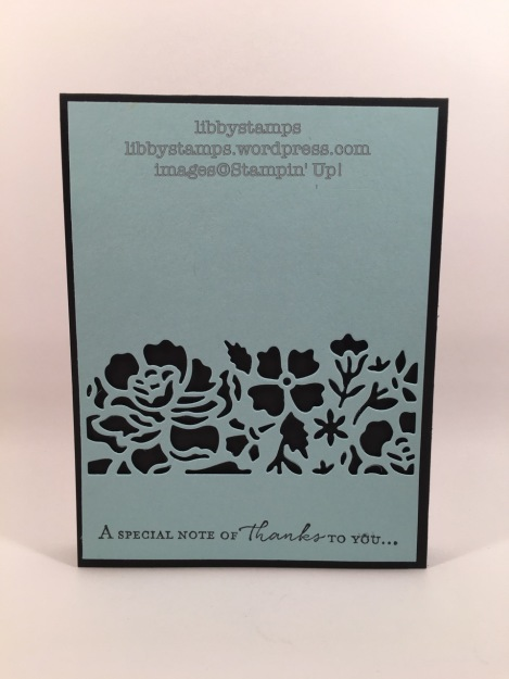 libbystamps, stampin up, Floral Phrases, Detailed Floral Thinlits, Simple Saturday,