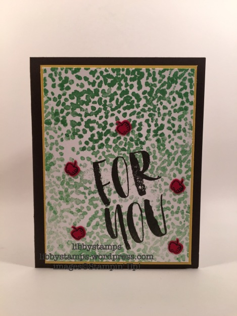 libbystamps, stampin up, Tree Builder Punch, Bold Botanicals, Sheltering Tree, Sprinkles of Life, WWC82