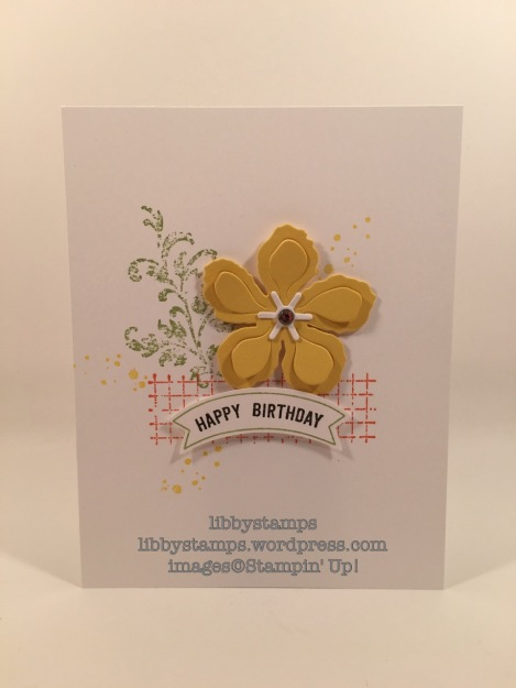 libbystamps, stampin up, Timeless Textures, Thoughtful Banners, Botanical Builder Framelits, Duet Punch, Simple Staurday
