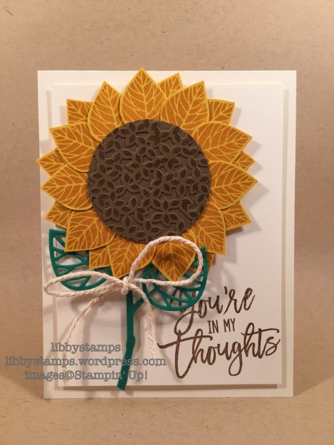 libbystamps, stampin up, Thoughtful Branches, Beautiful Branches, sunflower, CCMC424