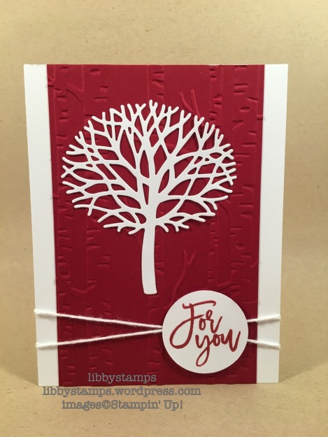 libbystamps, stampin up, Thoughtful Branches, Beautiful Branches Thinlits, Woodland EF, Layering Circles Framelits, Card Buffet