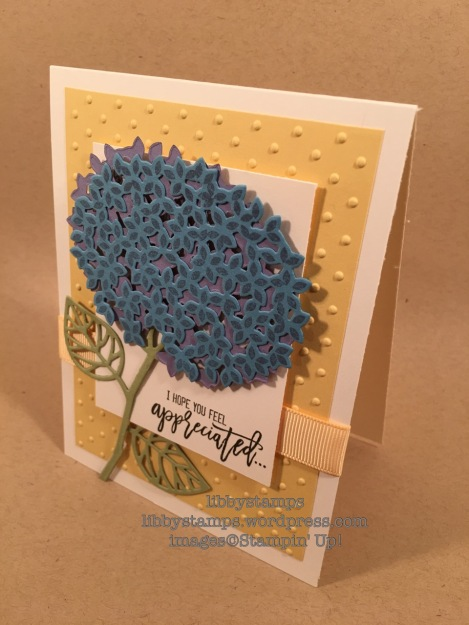 libbystamps, Stampin up, Thoughtful Branches, Beautiful Branches Thinlits, TSOT#289, hydrangea